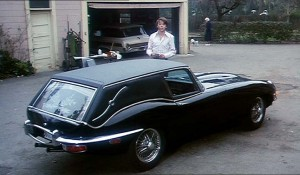 "The infamous Jaguar hearse from ""Harold and Maude."""