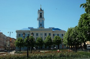 The city hall in Cernovcy, Ukraine