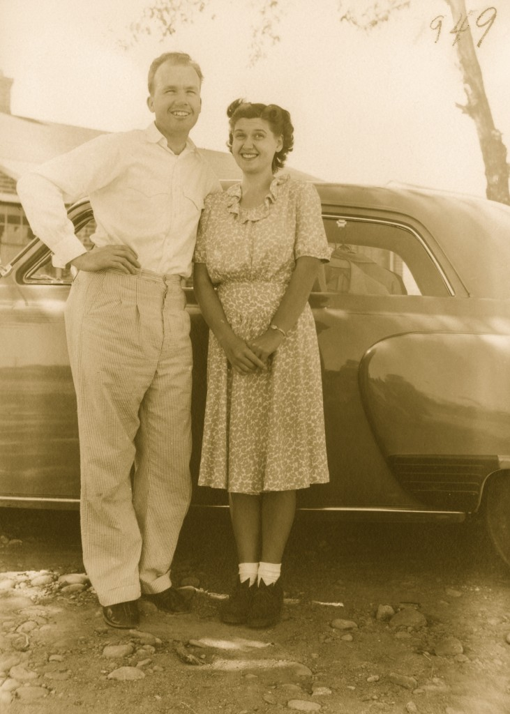 Mom and Dad, 1949. At seven years of marriage, and less than a year from the birth of their first child. I'll bet they were sharing a lot of joyous first and forever words back then... (One of favorite pictures of my parents.)