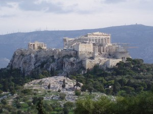 A modern view of the Areopagus in Athens...