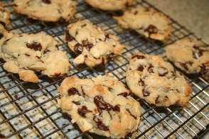 A plate of fresh-baked cookies . . .