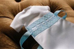 A baby's gown from the project in Fort Worth, Texas.