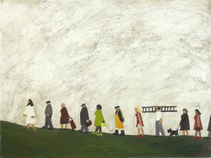 """Some People Following Jesus"" – Gary Bunt (oil on canvas)"