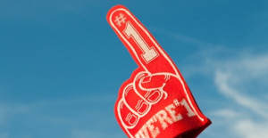 It's almost like the Almighty sits on the fifty yard line, waving an oversized We're #1 foam finger . . .