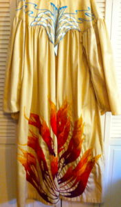 My friend Gail Tanquary made the robe for me . . . stitch by stitch.